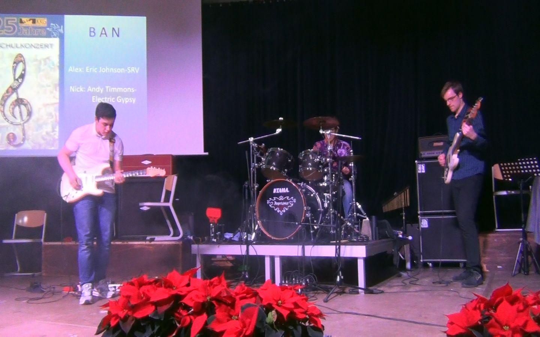 B A N – erstes Konzert des neuen Schulbandprojektes