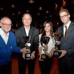 Zwei der Ü60-Herren der TG Gahmen als Mannschaft, Gina Zint als Sportlerin und Matthias Hövener als Sportler des Jahres. Foto: Günther Goldstein