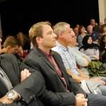 Reinold Bauhus, Schulleiter der KKG, und Joachim Stankiewicz, Schulleiter der GSG und Gastgeber der Podiumsdiskussion