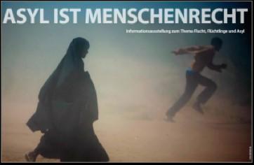 """Informationsausstellung """"Asyl ist Menschenrecht"""" im Foyer der KKG"""