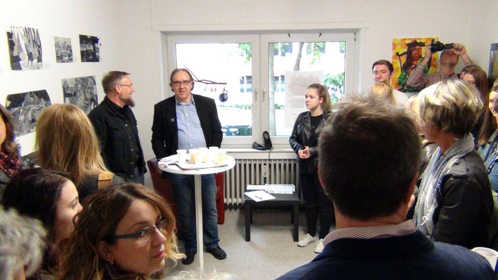 Eröffnung der 1. Jugendkunstausstellung im Atelierhaus Lünen