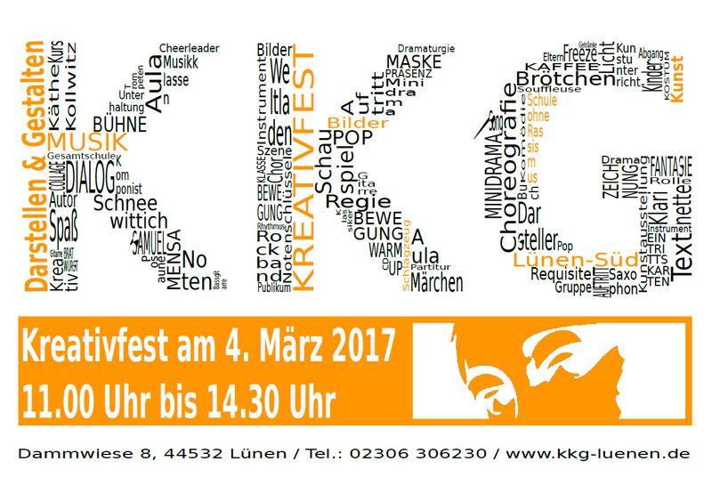 Das Programm beim Kreativfest am 4.3.!
