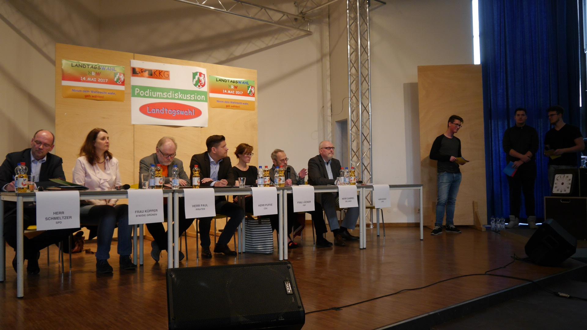 Podiumsdiskussion zur Landtagswahl NRW 2017