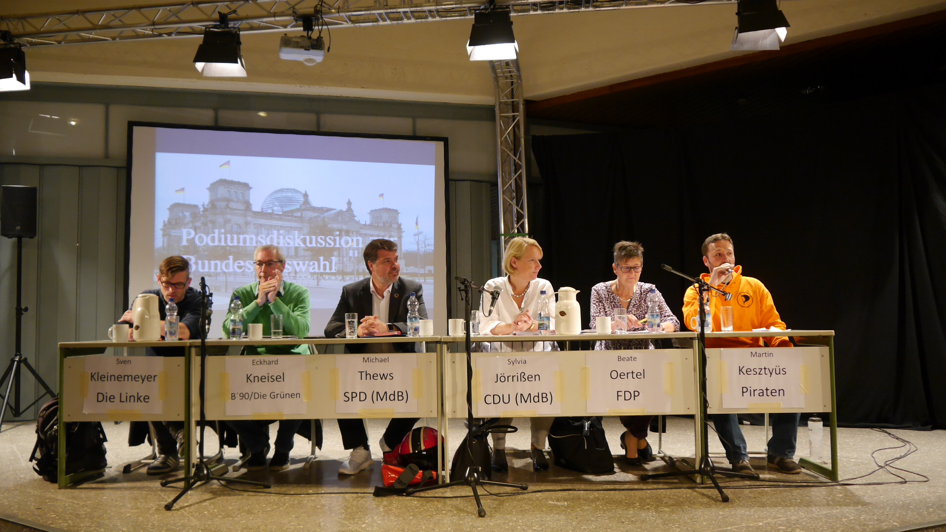 Podiumsdiskussion zur Bundestagswahl an der GSG