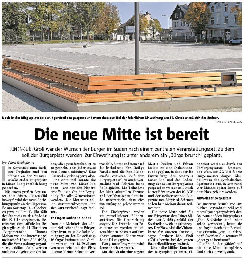 Einweihung der Neuen Mitte (Bürgerplatz) in Lünen-Süd