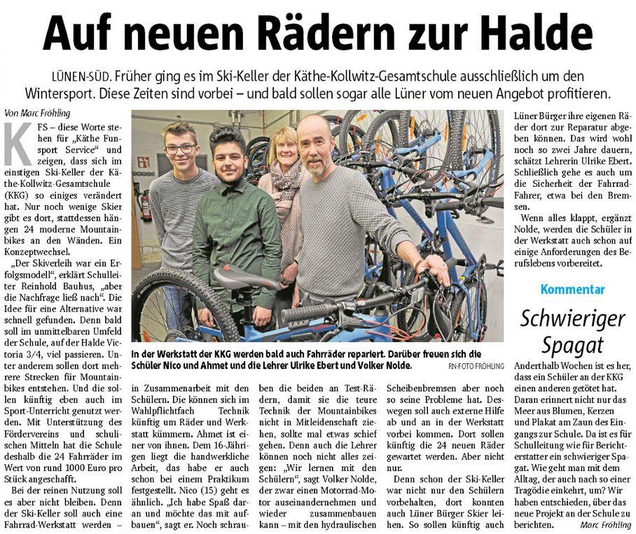 Käthe-Funsport-Service in den Ruhr Nachrichten
