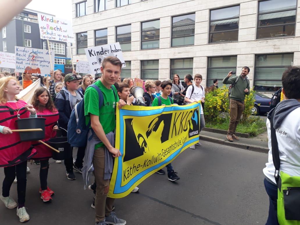 Demonstration in Berlin gegen Kinderarbeit