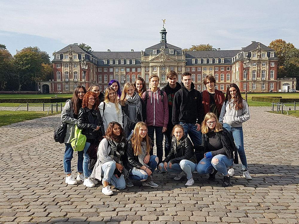 Besuch der italienischen SchülerInnen im Oktober