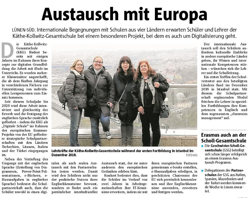 ERASMUS-Projekt an der KKG