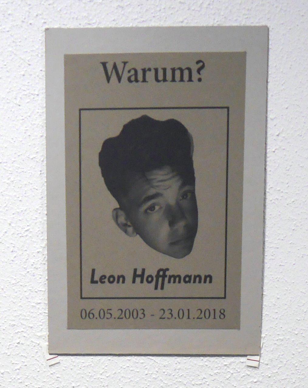Stille Gedenkfeier für Leon Hoffmann