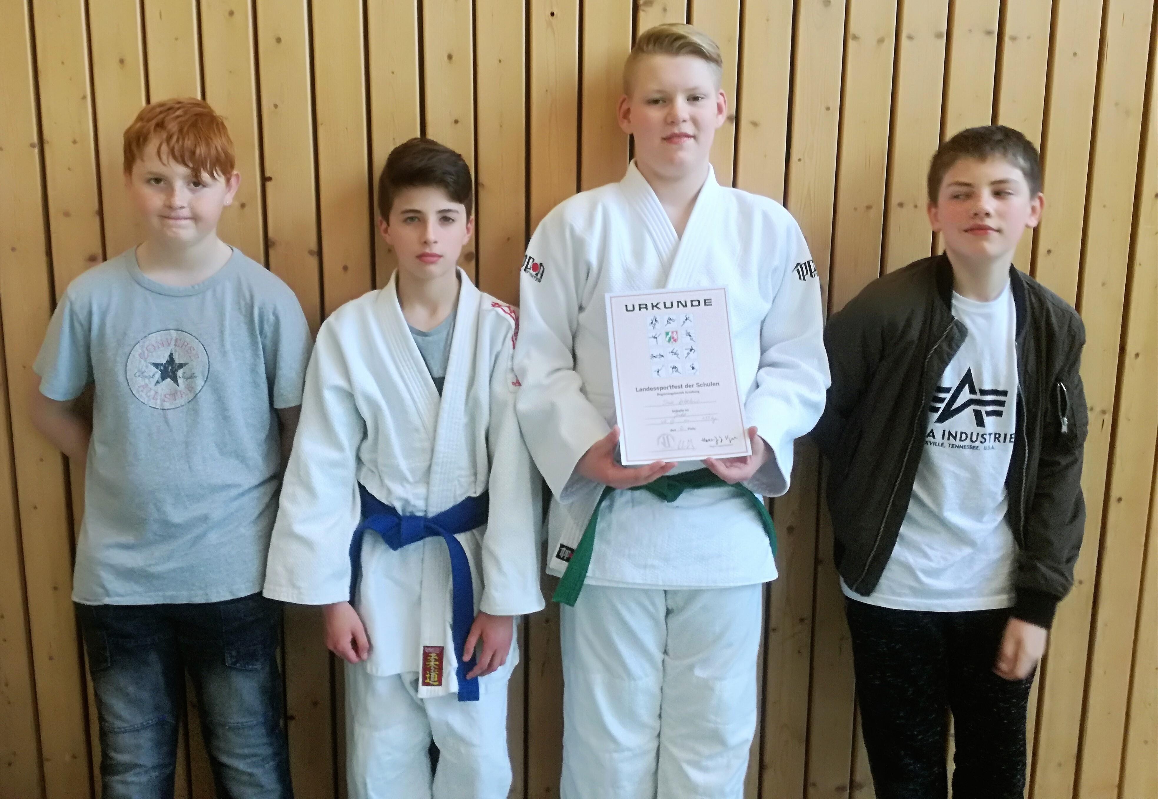KKG-Judoka bei der Schulsport-Bezirksmeisterschaft
