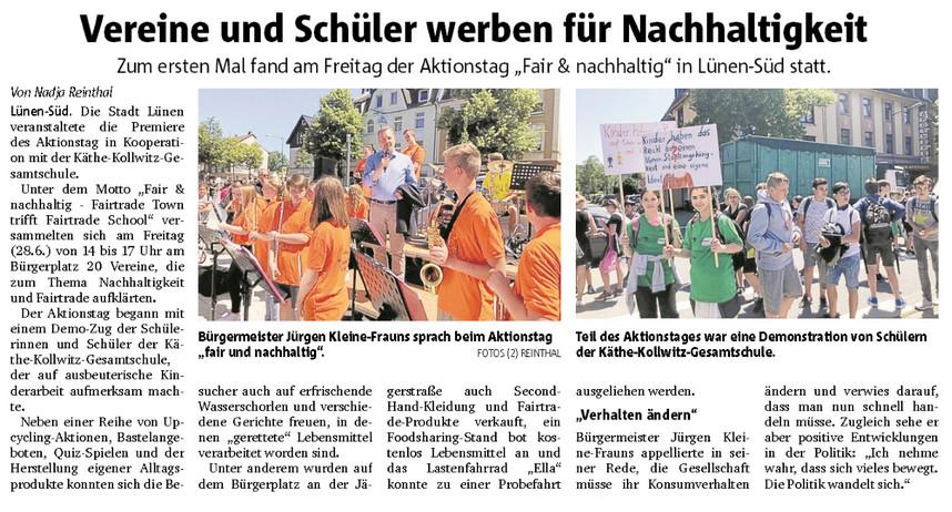 """Aktionstag """"Fair & nachhaltig"""" in Lünen-Süd"""