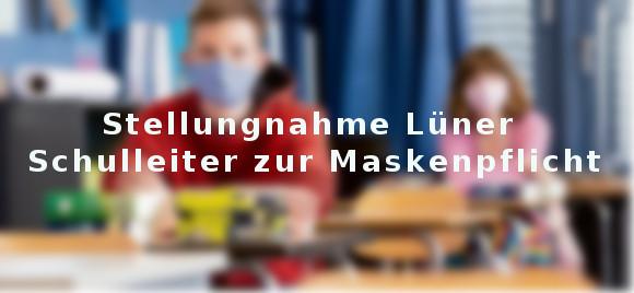 Lüner Schulleiter zur Maskenpflicht