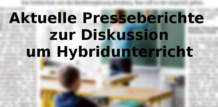 Aktuelle Presseberichte zur Diskussion um Hybridunterricht – letztes Update: 15.12.20