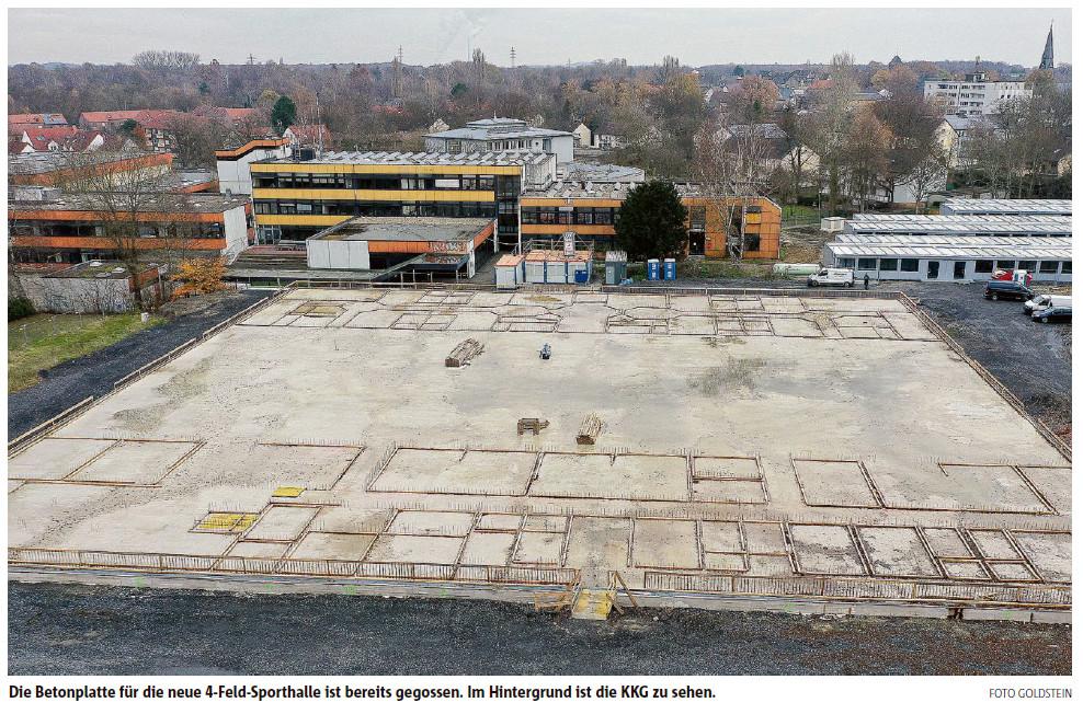 Baufortschritte am Campus Lünen-Süd – RN vom 01.12.20