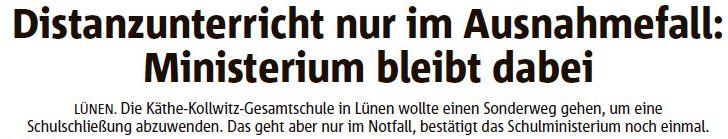Ruhr Nachrichten vom 02.12.20